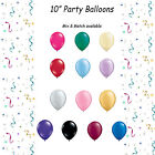 "10"" LATEX PARTY BALLOONS PACK OF 10. RED, BLACK, BLUE, PINK, YELLOW, GREEN ETC"