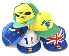 World Cup Series Snapback Snap Back Cap / Hat | Germany Brazil France Italy GB