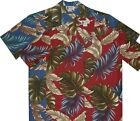 500-9600 Blue Christmas Red Tropical Island Hawaiian Clothing Shirt Brand New