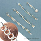 Custom SILVER-Plated/Tone Extender Chain for heavy jewelry safety adjustable S6H
