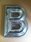 "New Style Snap Lok Marquee Letter, Chrome Finish in Sizes from 5"" to 31"" Tall"