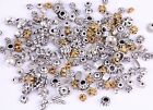 50g(about 90pcs) Mixed silver/golden Spacer Beads/Flower caps For Jewelry making