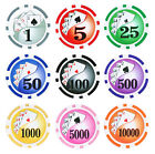 25pc 13.5g Clay Yin Yang Poker Chips  Choose From 9 Colors
