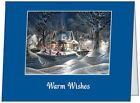 Your Words BUSINESS PERSONAL Snow Houses Scene CUSTOM Christmas CARDS USA
