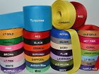 3/8' 5/8' 7/8' 1.5' Grosgrain Ribbon 4 Yards of 1 Color Solid Bulk Wholesale