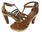 Coach Womens Delanie Brown Fashion Espadrille Platform Buckle Ankle Strap Heels