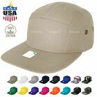 PLAIN OLD SCHOOL BLANK 5 PANEL FLAT BRIM SNAPBACK ARMY BASEBALL CAP VISOR HAT