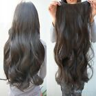"""Women Ladies 29"""" Long Curly Wavy 6 Clips In On Hair Extensions Full Head Top New"""