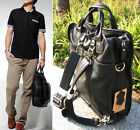 Men's Genuine Leather Business Briefcase Messenger Shoulder Bag Backpack Handbag