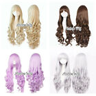 Lolita Blonde/Brown/Purple/Sliver Gray Long Curly Cosplay Anime Full Wig