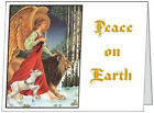 Your Words BUSINESS PERSONAL Angel LION LAMB Peace 5.5x4 Christmas CARDS