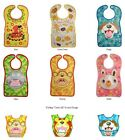 """Animal Motif Waterproof Baby Bib with """"Catch-All"""" Pocket - Bear Cookie Doggy"""