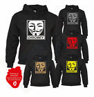 Disobey Hoodie Anonymous V For Vendetta Mask We Are The 99% Jumper Sweater Top