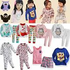 "NWT Baby Toddler Kids Girl Boy Clothes Sleepwear Pajama Top Shirt Outfits ""Owl"""