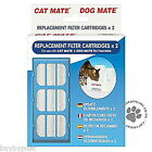 Cat Mate Cat & Dog Water Fountain Replacement Spare Filters. Packs Of Two