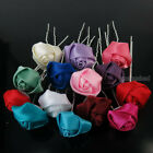 6  12  20pcs Small Silk Rose Flower Hair Pin Clips Wedding Bridal Party Jewelry
