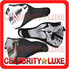 New Ghost Skull Black Face Ski Mask Biker Balaclava Motorcycle Costume Black