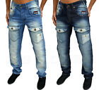 MENS DESIGNER RAWCRAFT DENIM JEANS TAPERED ARC FIT NARROW LEG STYLISH 2 COLOURS
