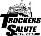 Truckers Salute To The DOT T-Shirt Sleeveless 4 Drivers of Peterbilt KW Mac....