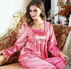 Women Silk Satin Pajamas Pajama  Sleepwear Set Loungewear S6,M8,M10,L12,L14