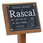 """Wooden 14"""" Pet Memorial Stake Grave Marker Free Personalised Engraving on Plaque"""
