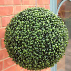 ARTIFICIAL TOPIARY GARDEN BALL ILEX BUXUS BOXWOOD GREEN HANGING BASKET PLASTIC