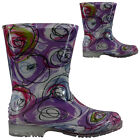 GIRLS KIDS WELLINGTONS BOOTS GIRLS RETRO HEELS SNOW FESTIVAL WELLIES SHOES SIZE