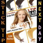 Pre Bonded Stick/I-Tip-100% REMY Human Hair Extensions-0.6g/strand-Grade AAA