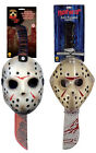 LICENSED JASON VORHEES MASK MACHETE SET ACCESSORY FANCY DRESS HALLOWEEN COSTUME