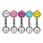 Nurse Fob Brooch Pendant Pocket Watch Smiley Face Stainless Steel- FAST DELIVERY