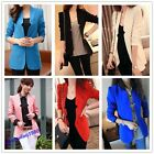 Hot Lady's Style Candy Color Jacket Blazer Sleeve  Suit Coat Tops 4 Size 6Colors