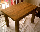 New Hand Made Rustic Plank Kitchen Dining Table in Thick Solid Wood