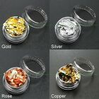 Hot Glitter Silver Gold Rose Copper Flake Chip Foil Nail Art Tips Decoration New