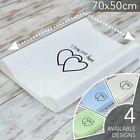 HARD BASE BABY CHANGING MAT / UNIT / COT TOP CHANGER 70 x 50 cm WITH HEART MOTIF