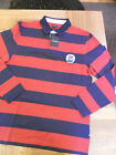 MENS JAEGER RUGBY TOP RED/BLUE M/LX/L 102013