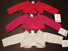 NWT Carters Baby Girl Metallic SWEATER Cardigan Holiday Party NB/6/9 Silver/Red