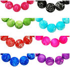 30 x Delightfully Decorated Rubberised Glass Beads ♥  8mm Hole 2mm ♥ lady-muck1