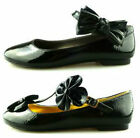 GIRLS FLAT DOLLY FORMAL CASUAL SCHOOL SHOES LADIES WOMENS FLAT WORK PARTY SIZE