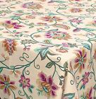 Squish Countryside Style Floral Tablecloth- 100% Cotton, 120-Inch