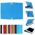 For iPad Mini 4 3 Retina Magnetic MultiFold Taiga Leather Smart Stand Cover Case