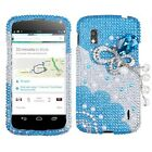 LG Google Nexus 4 E960 Premium 3D Diamond Bling Rhinestone Pearl Hard Case Cover