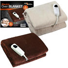 GLOWMASTER LUXURY FLEECE ELECTRIC HEATED OVERBLANKET BLANKET THROW CREAM BROWN