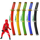 LONG 60cm COLOURED SAMURAI NINJA PLASTIC SAFE ROLE PLAY FIGHTING FIGHT TOY SWORD