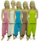 WOMEN'S NEW LADIES BOOB TUBE SEXY CANDY COLOR COTTON JUMP SUIT SIZE 8-14