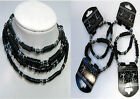 Mens Hematite and Black surfer Necklace and Bracelet 4 Styles