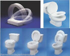 Hinged Elevated Toilet Seat - Round Or Elongated