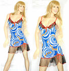 BABY DOLL donna Lingerie Camicia da Notte Sexy pizzo tulle velo Babydoll L02