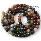 4,6,8,10,12,14,16,18,20mm Indian Agate Round Shape Gemstone Beads Strand15""