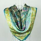 Womens Girl   Beauty Classical  100% Silk  Square Scarf