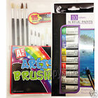 15 or 12 Artist paints brushes & acrylic paints, water and oil paints colours